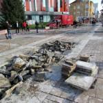 Големият ремонт в центъра на града започна