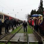 Втори протест в Горни Дъбник, хората са против гарата да става спирка