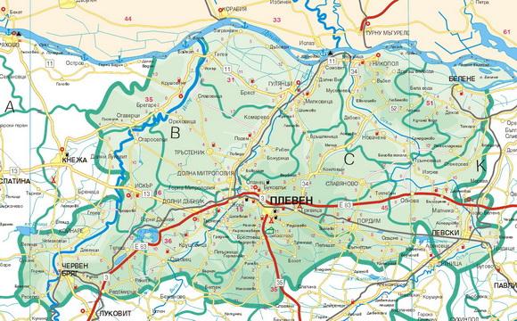 Karta Na Oblast Pleven Infopleven