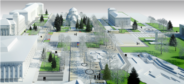нова визия на пешеходната зона