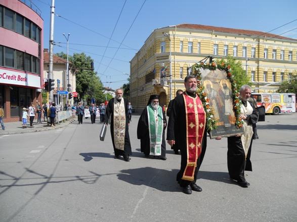 икона Кирил и Методий - шествие
