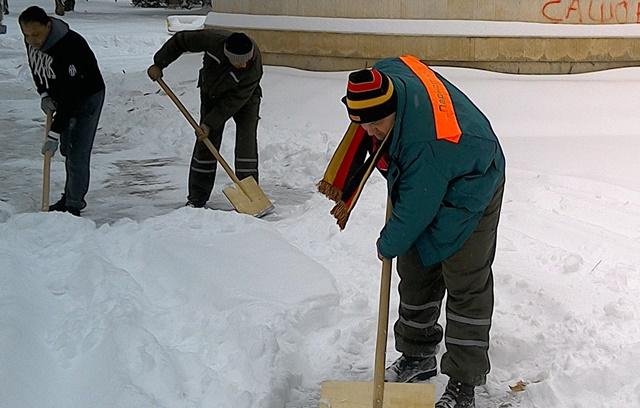 паркстрой снегопочистване