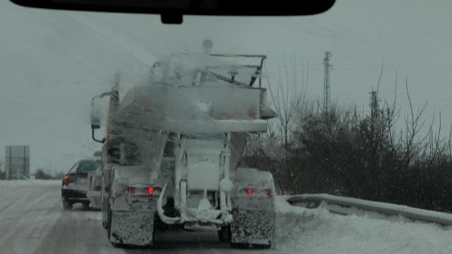 сняг път зима